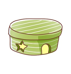 A container is placed vector image vector image