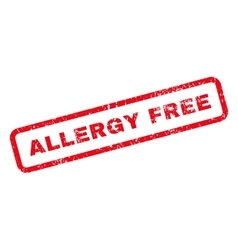 Allergy free text rubber stamp vector