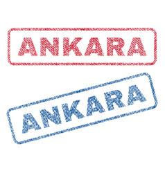 Ankara textile stamps vector