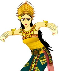 Balinese dancer vector
