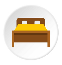 Bed icon circle vector