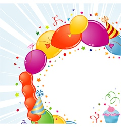 birthday frame with balloons vector image
