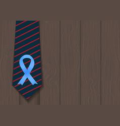 blue ribbon symbol of world prostate cancer vector image vector image