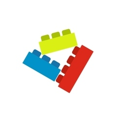 Building bricks icon vector
