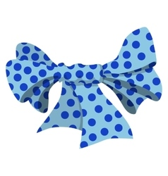 Cartoon bow blue sign vector