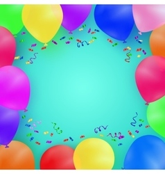 Celebrating background with colorful balloons vector image vector image
