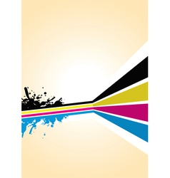cmyk spash background vector image vector image