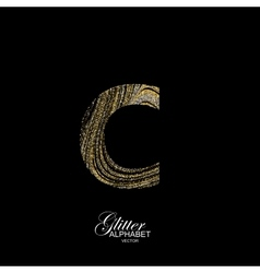 Curly textured letter c vector