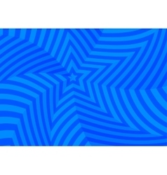 Deep blue twisted stars abstract background vector image