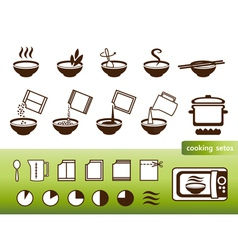 Fastfood manuals vector image