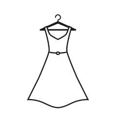 Female long dress on a hanger vector image