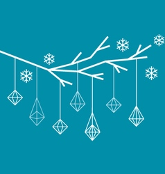 Geometric christmas tree vector
