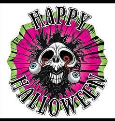 Halloween horror zombie skull vector