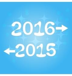 Happy new year 2016 2015 vector image vector image