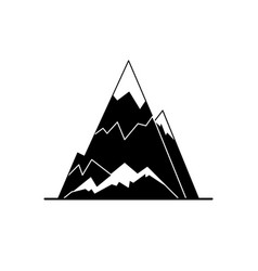 Ice mountain peak silhouette icon in flat style vector