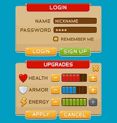 Interface buttons set for games or apps2 vector image