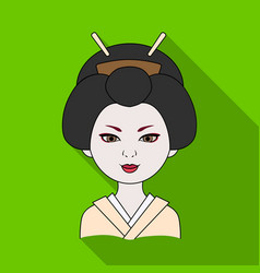japanesehuman race single icon in flat style vector image vector image