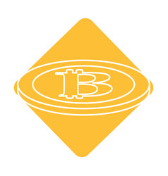 Label digital bitcoin currency and electronic vector