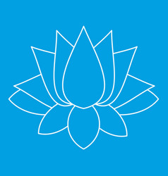 Lotus icon outline style vector
