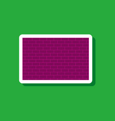 Paper sticker on stylish background brick wall vector