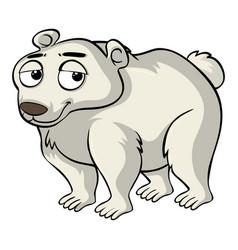 Polar bear with sad face vector