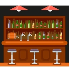 Pub bar restaurant cafe symbol alcohol beer house vector