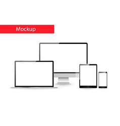 responsive design mockup vector image vector image