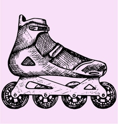 roller skates vector image vector image