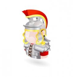 roman soldier icon vector image vector image