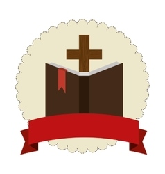 sacred holy bible icon vector image vector image