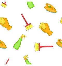 Sanitation pattern cartoon style vector