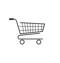 Shopping cart icon flat vector