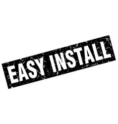 Square grunge black easy install stamp vector