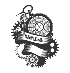 Steampunk mechanism vector image