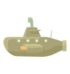 Submarine icon cartoon style vector