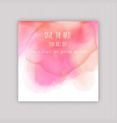 watercolour save the date invitation vector image