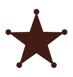 star sherif wild west icon vector image