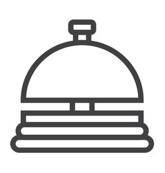 Hotell bell line icon travel and tourism vector