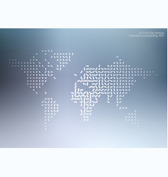 World map with sticks lines for business vector