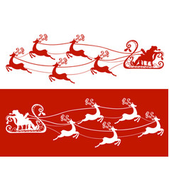 santa claus and his deers vector image