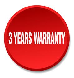 3 years warranty vector