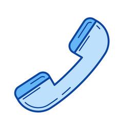 phone handset line icon vector image