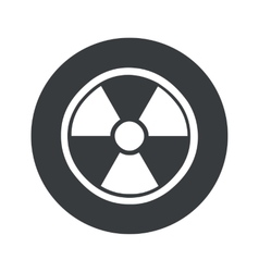 Monochrome round hazard icon vector