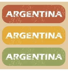 Vintage argentina stamp set vector
