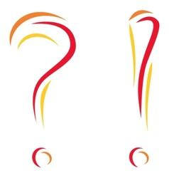 question and interjection vector image