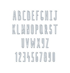 Volume set of letters and numbers handmade sketch vector
