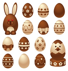Chocolate easter figures vector