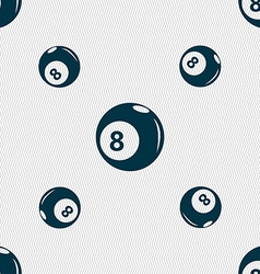 Billiards icon sign seamless pattern with vector
