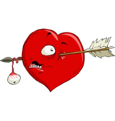 crippled heart vector image
