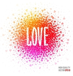 Love beautiful design element for greeting card vector
